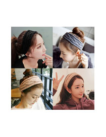 Fashion Gray Twist Shape Decorated Pure Color Simple Hair Band Hair Hoop