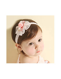 Lovely Light Yellow Bowknot Decorated Lace Simple Hair Hoop