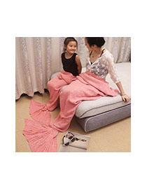 Fashion Purple Pure Color Decorated Mermaid Shape Simple Blanket(large)