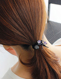 Fashion Light Blue Round Shape Decorated Multilayer Hair Band