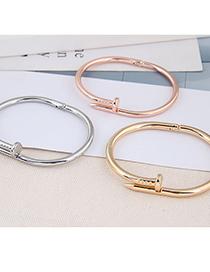 Fashion Gold Color Rivet Nail Alloy Bracelet