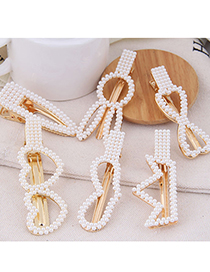 Fashion Bow Pearl Crown Geometric Alloy Hairpin