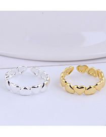 Fashion Silver Color Heart Alloy Open Ring