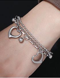 Fashion Silver Stainless Steel Love Bell Bracelet