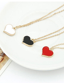Fashion Red Metal Heart Necklace