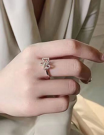 Fashion Rose Gold Wealthy Dog Opening Ring