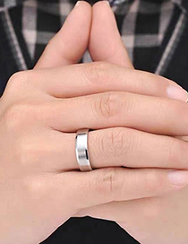 Fashion Silver Stainless Steel Smooth Ring
