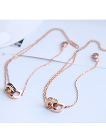 Fashion White Letter Double Buckle Anklet