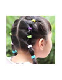 Fashion Light Purple Pure Color Decorated Simple Hair Band (10pcs)