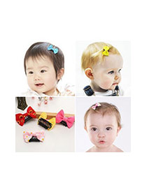 Fashion Watermelon Red Bowknot Decorated Pure Color Simple Hair Clip