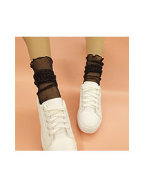 Trendy Plated Color Transparent Socks Of Sexy Style