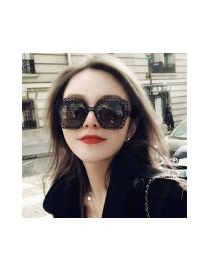 Fashion Black Pure Color Decorated Hollow Out Design Sunglasses