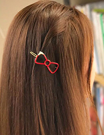 Fashion Gray Bowknot Decorated Hairpin
