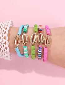 Fashion Color System Alloy Shell Bracelet