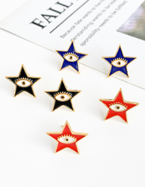 Fashion Navy Copper Pentagram Star Earrings