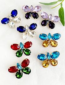 Pendientes De Mariposa Con Diamantes De Aleación