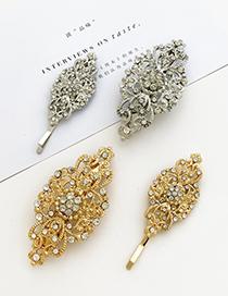 Fashion Silver Alloy Diamond Geometric Hair Clip Set
