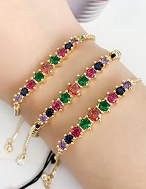 Fashion Golden Cubic Zirconia Bracelet