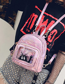 Fashion Pink Smile Pattern Decorated Backpack