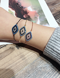 Fashion Rose Gold Eye Shape Decorated Bracelet