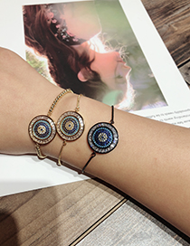 Fashion Gold Color Round Shape Decorated Bracelet