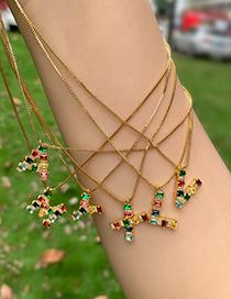 Fashion Z Gold Color Copper Inlaid Zircon Letter Necklace