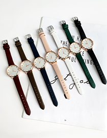Pink Alloy Pu Watch