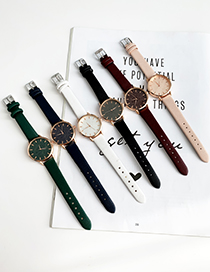 Green Alloy Pu Watch