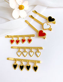 Fashion Red Alloy Love Hairpin