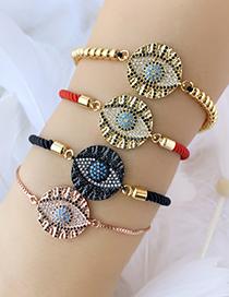 Fashion Black Copper Inlay Zircon Eye Bracelet