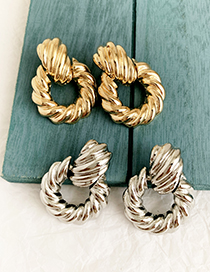 Fashion Gold Alloy Twist Knot Earring