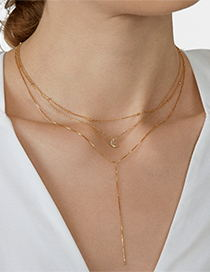 Fashion J Alloy Multi-layer Letter Necklace