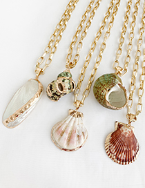 Fashion Golden Alloy Conch Necklace