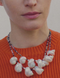 Fashion Color Crystal Bead Conch Necklace
