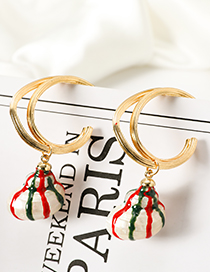 Fashion Golden Alloy Conch Studs