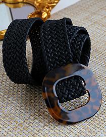 Cinturón Trenzado Con Cordón De Cera Ámbar De Resina