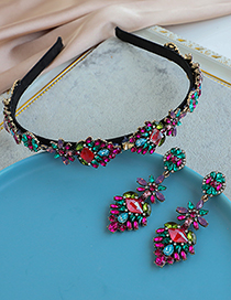 Fashion Color Alloy Diamond-studded Water Drop Headband