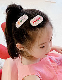 Fashion Daisy-blue Knitted Wool Flower Cherry Alloy Hit Color Hairpin
