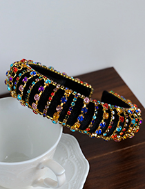 Fashion Silver Color Alloy Diamond-studded Sponge Headband