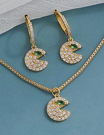Fashion Silvercolor Copper Inlaid Zircon Geometric Necklace