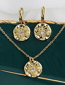 Fashion Gold Color Copper Inlaid Zircon Geometric Necklace