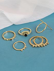 Fashion Golden 8-piece Alloy Geometric Ring