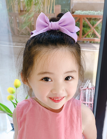 Fashion Three-dimensional Bow [red] Three-dimensional Bowknot Fabric Alloy Childrens Hairpin