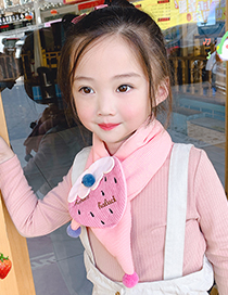 Fashion Bunny [orange Red] 1-8 Years Old Bunny Striped Strawberry Childrens Thick Warm Cotton And Linen Scarf