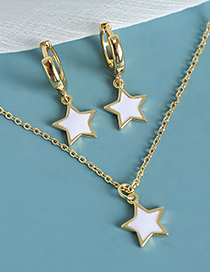 Fashion Gold Color Copper Five-pointed Star Necklace