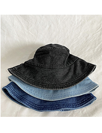 Fashion Light Blue Denim Stitching Solid Color Fisherman Hat