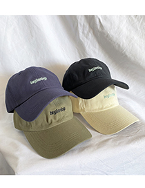 Fashion Beige Letter Embroidery Baseball Cap