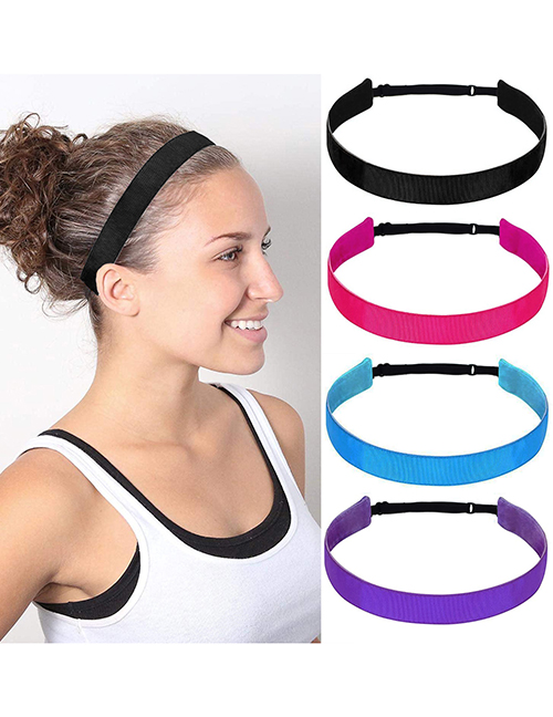 Fashion Orange Non-slip Solid Color Elastic Elastic Headband