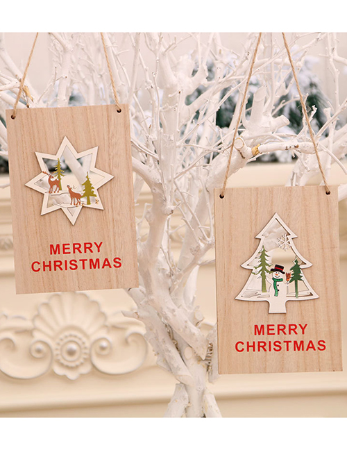 Fashion Ball Wooden Letter Geometric Christmas Doorplate Hanging