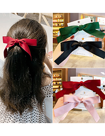 Fashion Off-white [hair Rope] Bowknot Fabric Alloy Childrens Hairpin Hair Rope